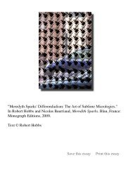 Meredyth Spark's Differendialism: The Art of Sublime ... - Robert Hobbs