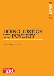 Doing justice to poverty paper 2010 (867kb) - Christian Aid
