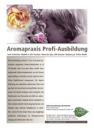 Aromapraxis Profi-Ausbildung - Eliane Zimmermann