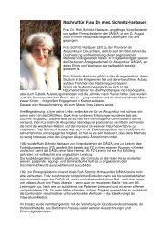 Nachruf für Frau Dr. med. Schmitz-Harbauer, - bei der DÄGfA