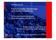 Vorstellung des Fachverbands Sanierungs- und Insolvenzberatung ...