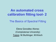 An automated cross call fitting tool - ESAC Trainee Project