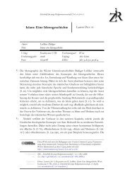 Islam: Eine Ideengeschichte - ZjR - Zeitschrift für junge ...
