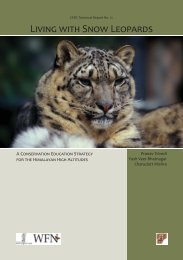 LIVING WITH SNOW LEOPARDS - Nature Conservation Foundation