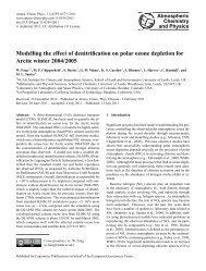 Modelling the effect of denitrification on polar ozone depletion for ...