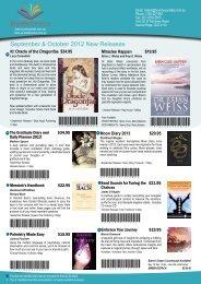 September & October 2012 New Releases - Brumby Books