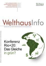 Konferenz Rio+20: Das Gleiche in grün? - Welthaus Graz