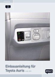 Einbauanleitung für Toyota Auris - Funkwerk Dabendorf GmbH