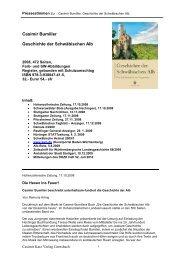 Casimir Bumiller Geschichte der Schwäbischen Alb