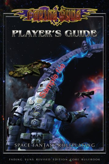 FAS21001 Fading Suns Player's Guide