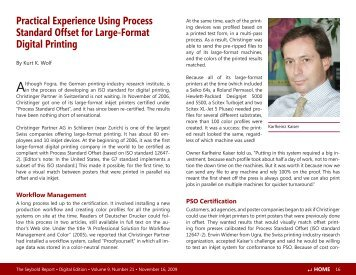 Practical Experience Using Process Standard Offset for Large-Format