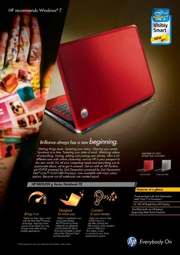 HP Pavilion g4 Factsheet - Living In Singapore Today