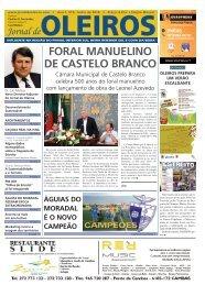 FORAL MANUELINO DE CASTELO BRANCO - Jornal de Oleiros