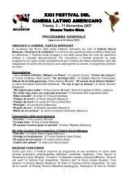 programma cinelatinotrieste.pdf - Festival del Cinema Latino ...