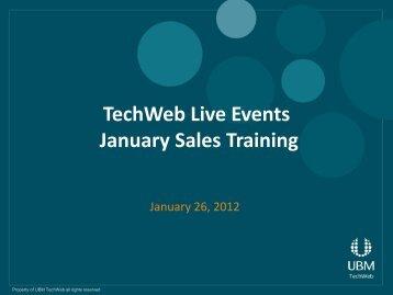 Hands On Deck Presentation 2012 - UBM TechWeb