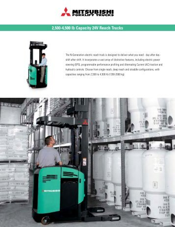 2,500-4,500 lb Capacity 24V Reach Trucks - Grúas San Blas