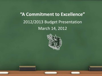 A Commitment to Excellence - Holmdel