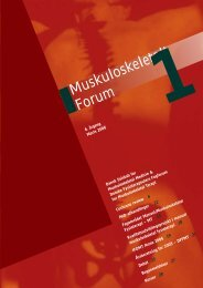 Muskuloskeletalt Forum 1 - 2006 - Fagforum for Muskuloskeletal ...