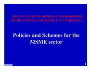 Policies and Schemes for the MSME sector - Department of Industry ...