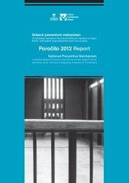 letno poročilo Varuha v vlogi Državnega preventivnega mehanizma