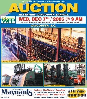 WFP Silvertree Auction Brochure - Maynards Industries