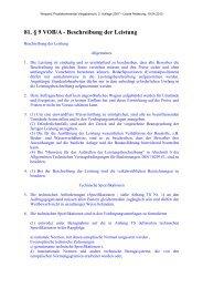 81. § 9 VOB/A - Beschreibung der Leistung - Oeffentliche Auftraege