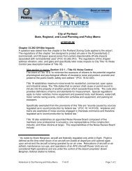 Planning and Policy Technical Memo - PDX Airport Futures