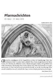 Pfarrnachrichten vom 9. - 17. März 2013 - St. Petronilla