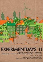 EXPERIMENTDAYS 11 - WordPress – www.wordpress.com
