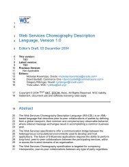 Web Services Choreography Description Language, Version 1.0