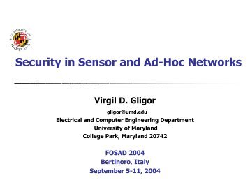 Security in Sensor and Ad-Hoc Networks