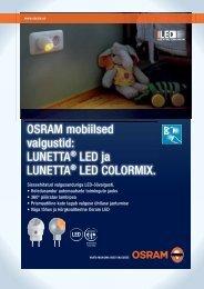 OSRAM mobiilsed valgustid: LUNETTA® LED ja LUNETTA® LED ...