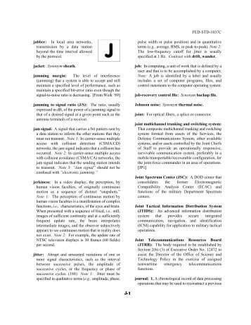 FED-STD-1037C jabber: In local area networks, transmission by a ...