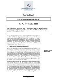 - Recht aktuell - Kurzinfo Immobilienrecht