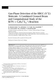 Gas-phase detection of the HBCC (X1[Sigma ... - ResearchGate