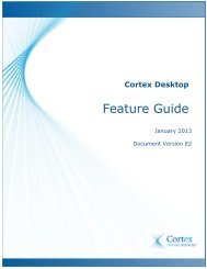 Feature Guide - Cortex Business Solutions Inc. - Page