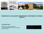 Estimation of Localization Parameters in Positioning of Dynamic ...
