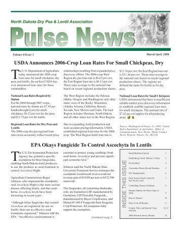 Sept 05 newsletter Entire - Northern Pulse Growers Association