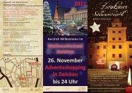 26. November bis 24 Uhr 2011 - Zwickauer Schlossweihnacht