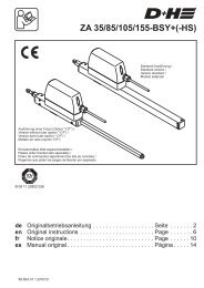 ZA 35/85/105/155-BSY+(-HS) - D+H Mechatronic