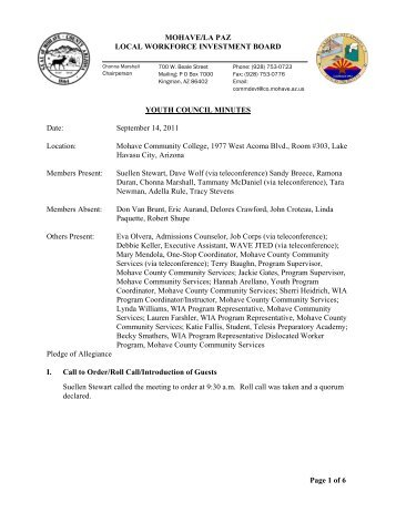 MOHAVE/LA PAZ LOCAL WORKFORCE ... - Mohave County