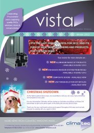 Vista Newsletter - Climatec Windows Limited