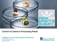 Control of Listeria in Processing Plants - bioMérieux