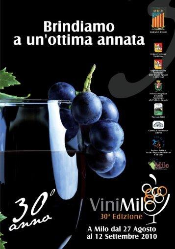 Opuscolo dell'iniziativa ViniMilo - Unicef