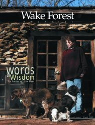 Wake Forest Magazine March 2003 - Past Issues - Wake Forest ...