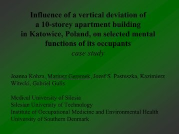 The influence of vertical deviation of a 10-storey apartment building ...
