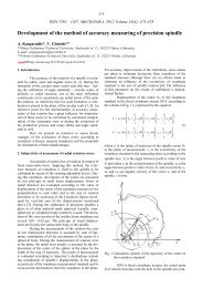 Development of the method of accuracy measuring of precision ...