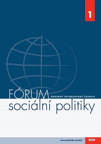 č. 1/2008 - Výzkumný ústav práce a sociálních věcí