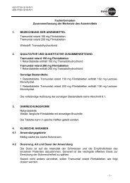 Fachinformation Zusammenfassung der Merkmale ... - Mundipharma