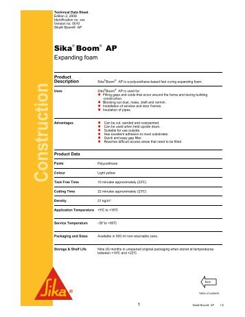 Sika Boom AP - Sika Indonesia
